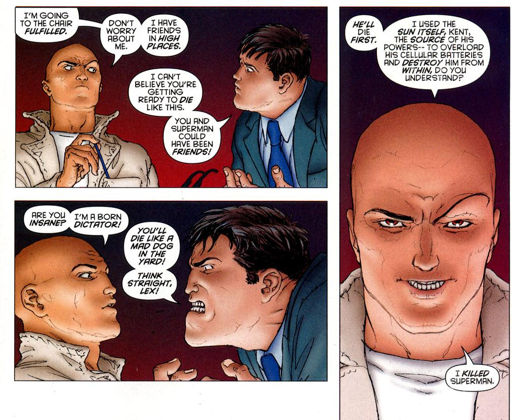 an analysis of the comparison between superman and lex luthor What's the main conflict between lex luthor and superman update cancel answer wiki 9 answers what is the relationship between superman and lex luthor.